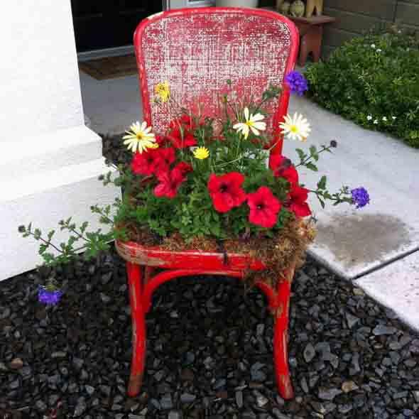 Canteiro de flores criativo para varanda e jardim 013
