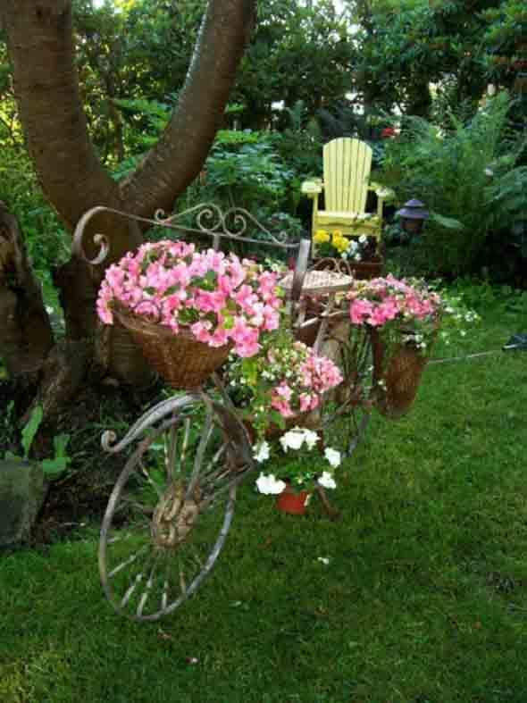 Canteiro de flores criativo para varanda e jardim 017