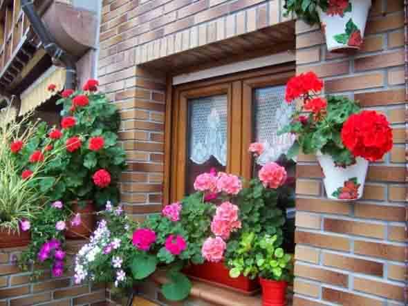 Canteiro de flores criativo para varanda e jardim 018