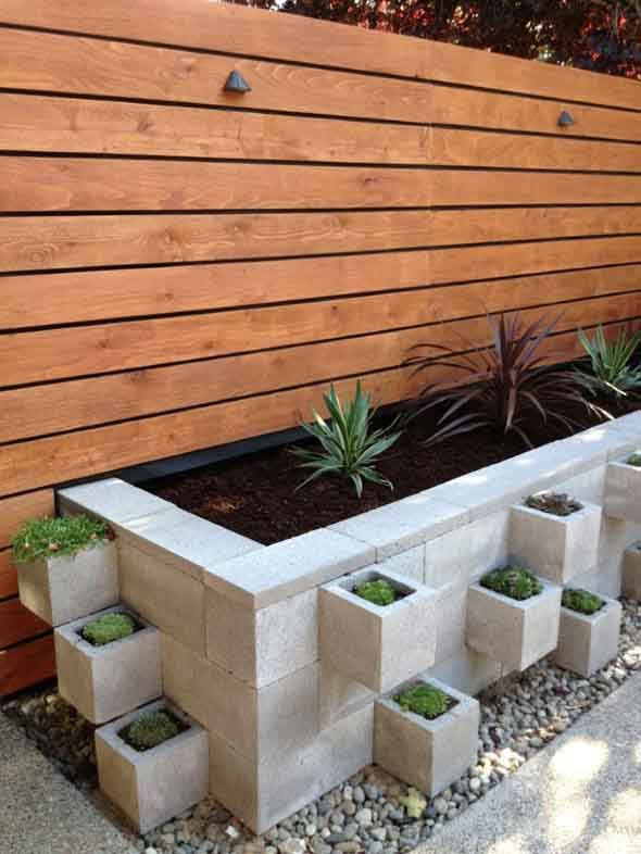 Canteiro de flores criativo para varanda e jardim 020