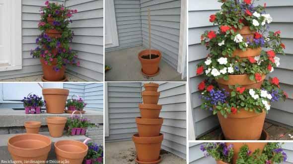 Canteiro de flores criativo para varanda e jardim 022