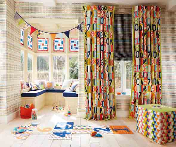 Cortinas coloridas na decoração 013