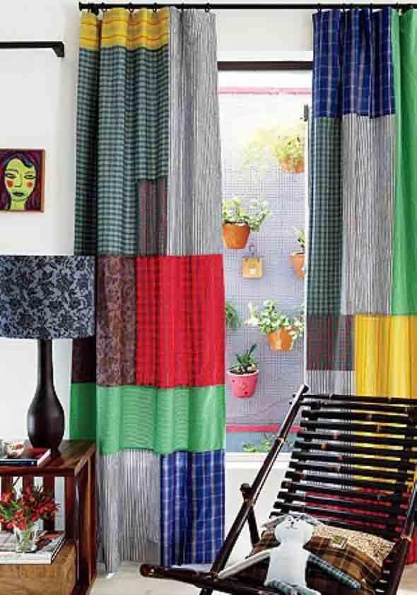 Cortinas coloridas na decoração 016