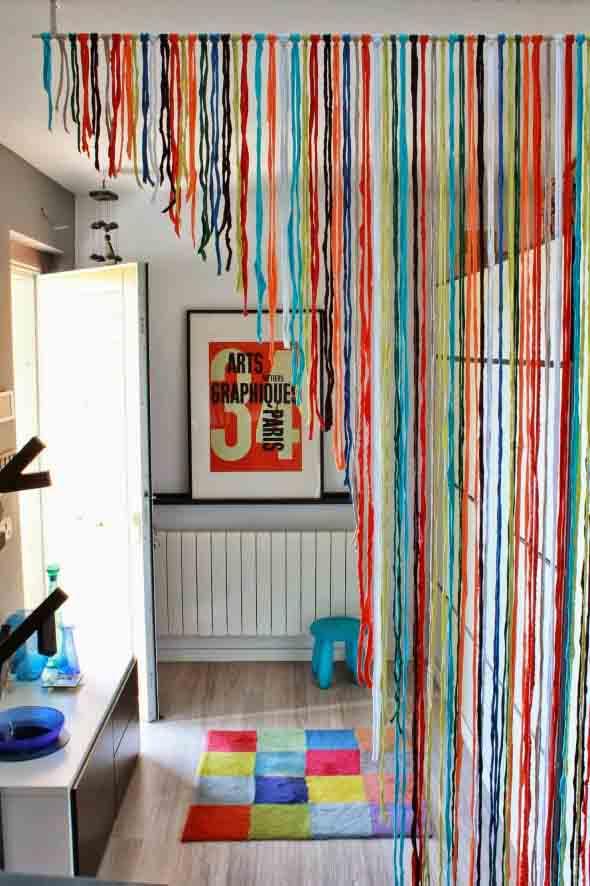 Cortinas coloridas na decoração 017