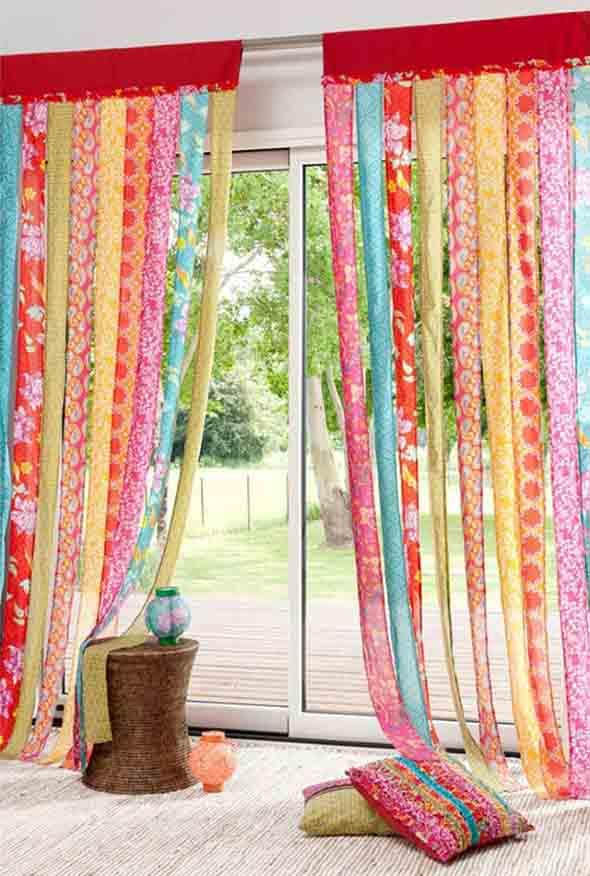 Cortinas coloridas na decoração 021