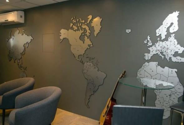 Mapa-múndi na decoração 011