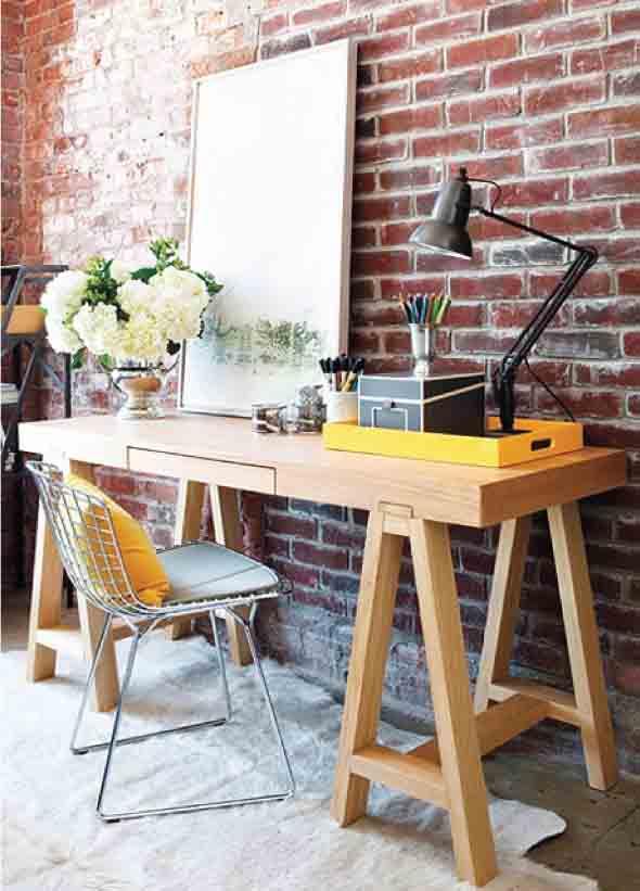 Mesa com cavaletes 003
