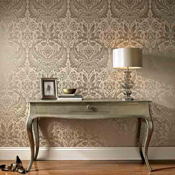 Papel de parede metalizado na decoração 001
