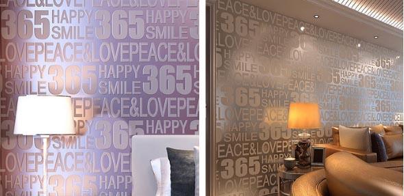 Papel de parede metalizado na decoração 012