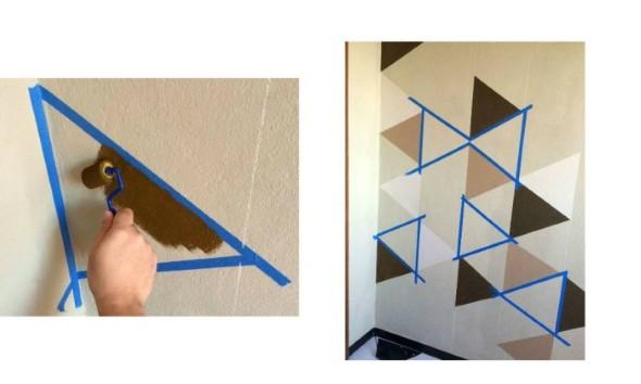 Pintura criativa com uso de fita adesiva 014