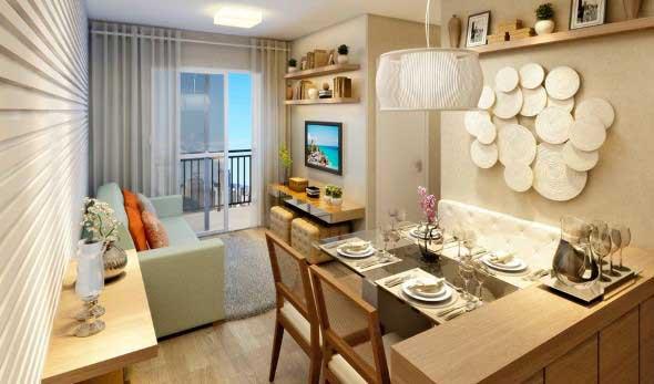 Apartamento pequeno com ambientes integrados 003