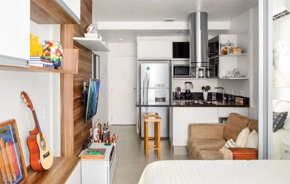 Apartamento pequeno com ambientes integrados 007