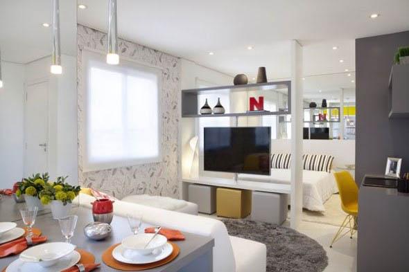 Apartamento pequeno com ambientes integrados 012