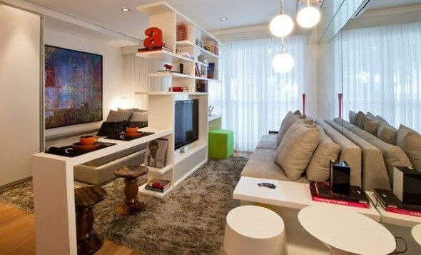 Apartamento pequeno com ambientes integrados 018
