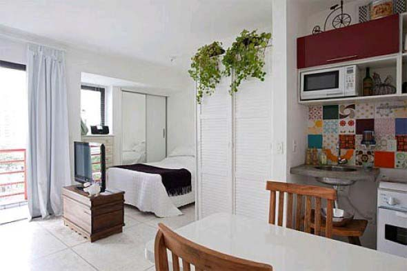 Apartamento pequeno com ambientes integrados 023