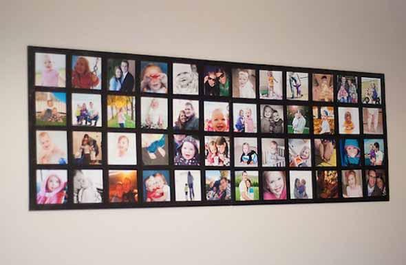 DIY - Aprenda a montar um painel de fotos 007