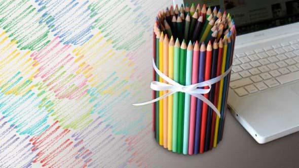 Decore sua casa com lápis de cor 002