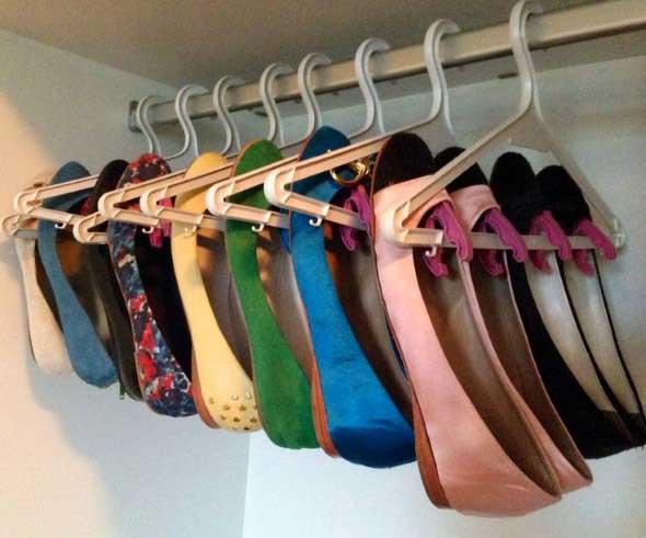 Ideias criativas para organizar e guardar sapatos 006