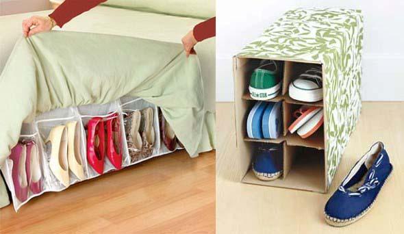 Ideias criativas para organizar e guardar sapatos 007