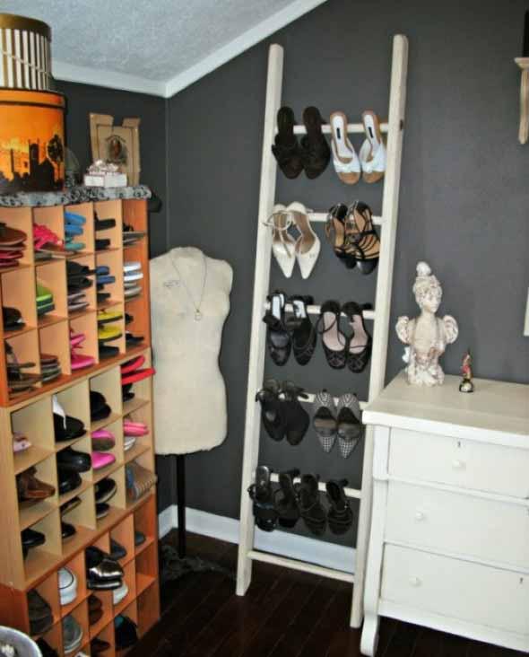 Ideias criativas para organizar e guardar sapatos 013