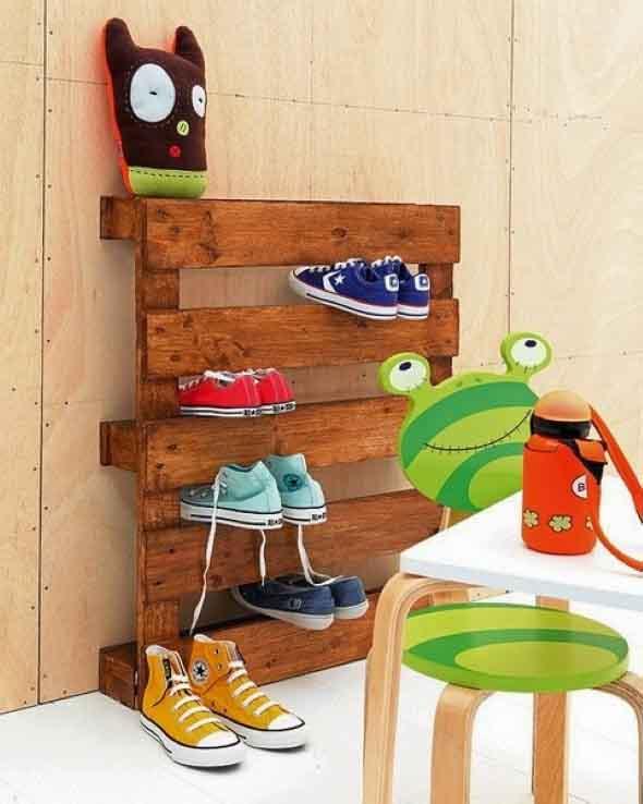 Ideias criativas para organizar e guardar sapatos 014