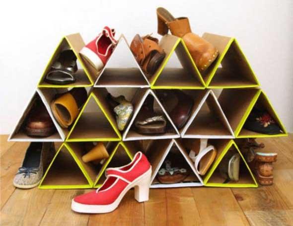 Ideias criativas para organizar e guardar sapatos 015