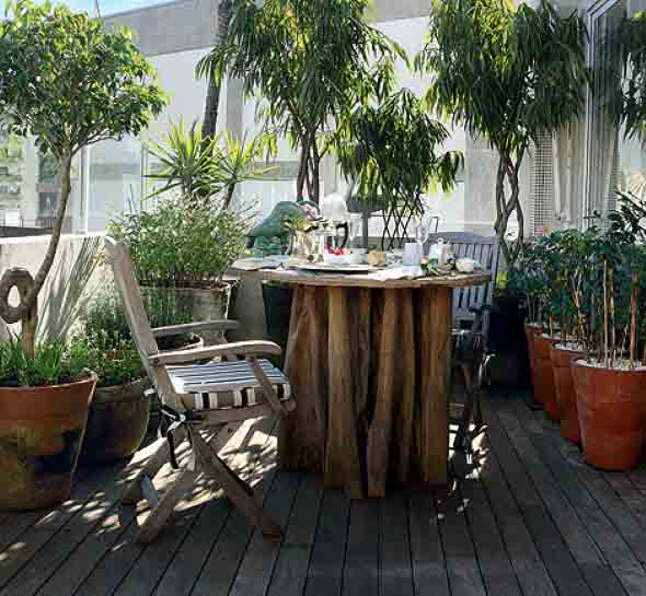 Mesas para varanda quintal ou jardim 014