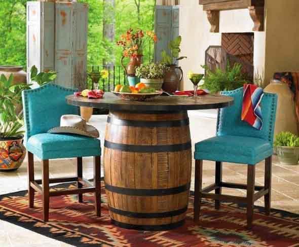 Mesas para varanda quintal ou jardim 015