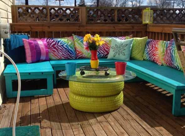Mesas para varanda quintal ou jardim 018