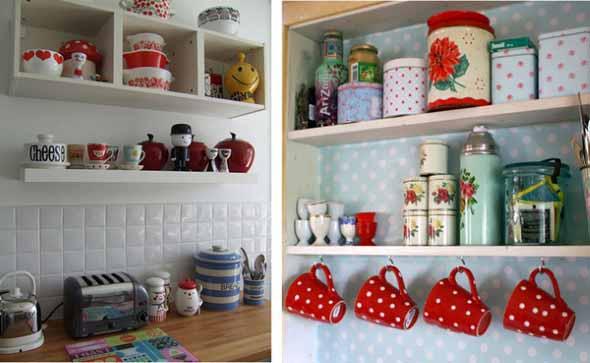 Prateleiras na decoração da cozinha 002