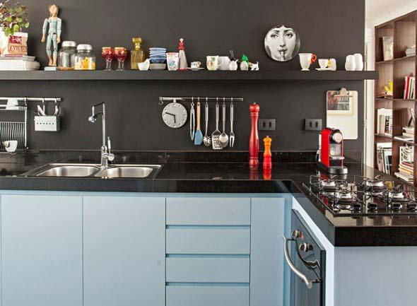 Prateleiras na decoração da cozinha 007