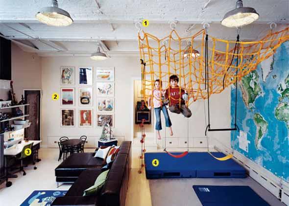 Espaço divertido para crianças em casa 001