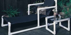 Móveis com canos de PVC 012