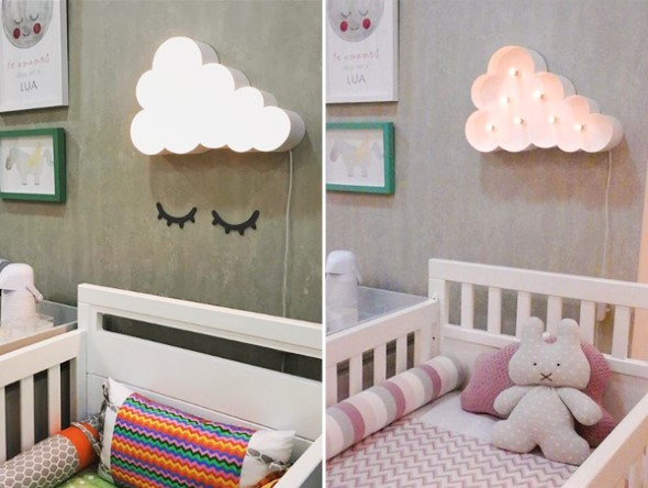 Quarto decorado com nuvens 006