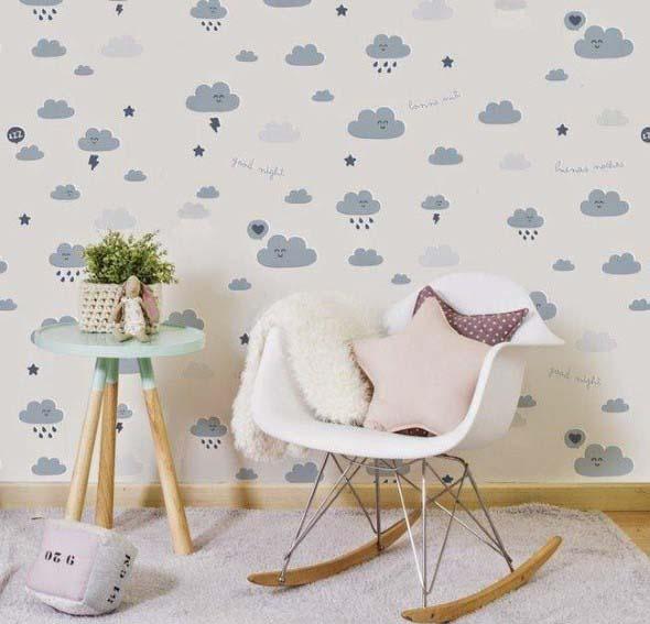 Quarto decorado com nuvens 007