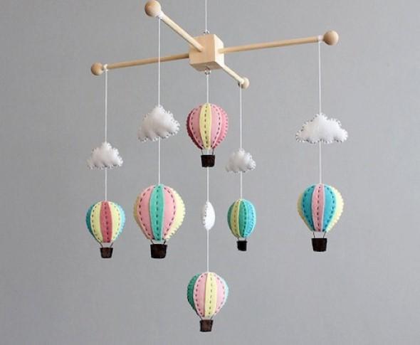 Quarto decorado com nuvens 014