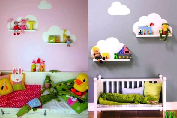 Quarto decorado com nuvens 018