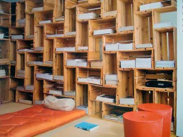 Caixotes de madeira na decoração 008