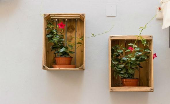 Caixotes de madeira na decoração 013