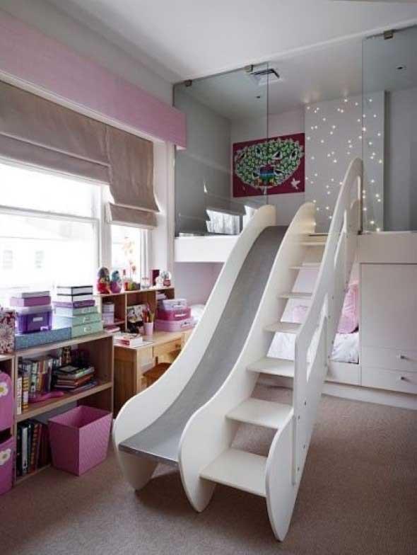 Cama das crianças com escadas 003