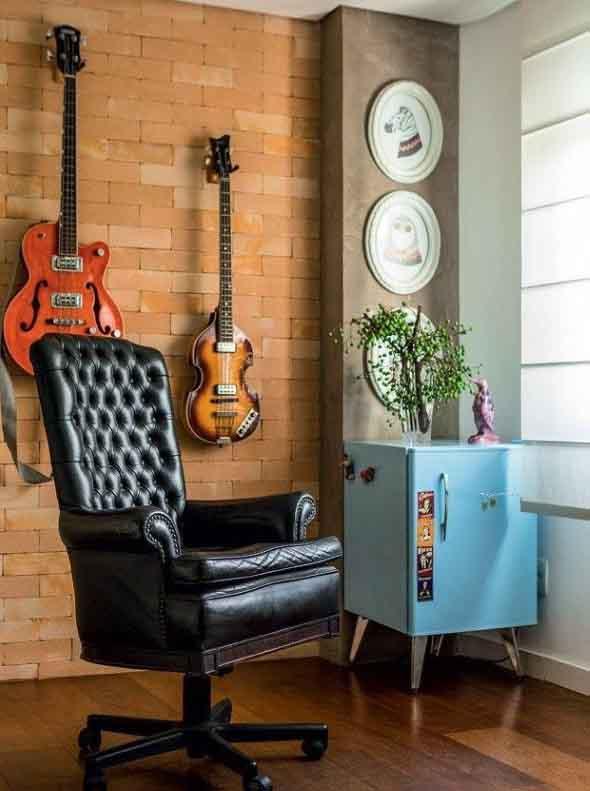 Decorando a casa com instrumentos musicais 002