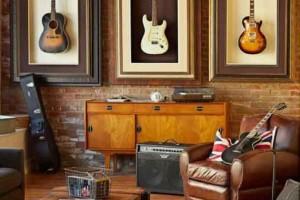 Decorando a casa com instrumentos musicais 012