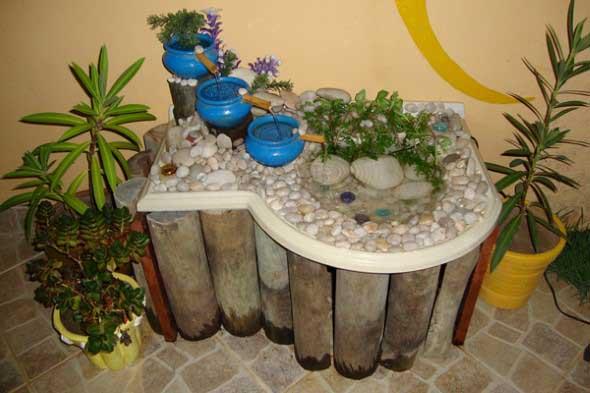 Fontes de água na decoração 006