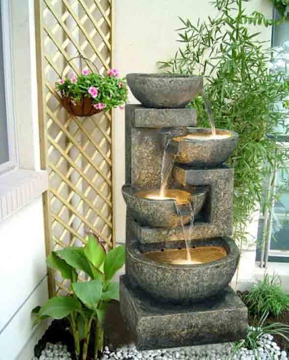 Fontes de água na decoração 014