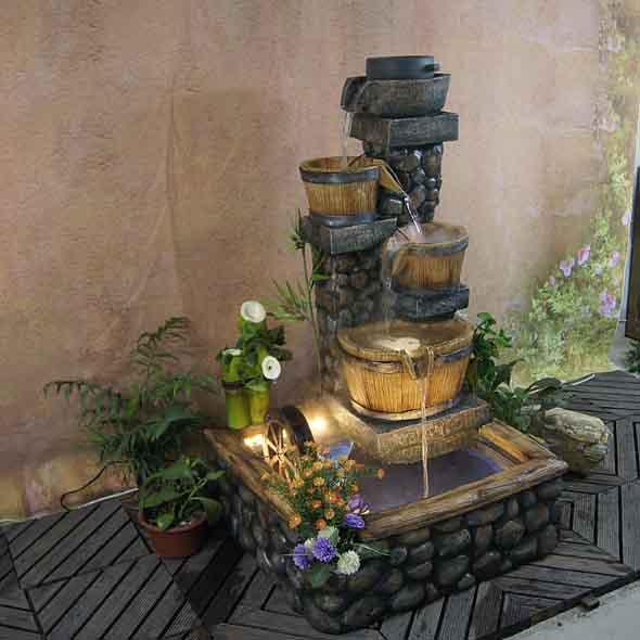 Fontes de água na decoração 016