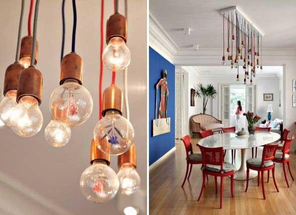 Iluminação com lâmpadas vintage na decoração 009