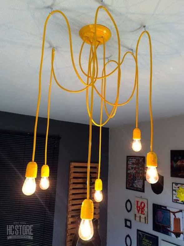 Iluminação com lâmpadas vintage na decoração 010