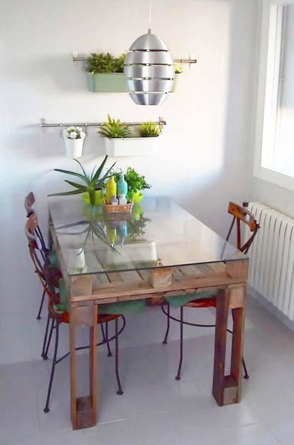 Mesa da cozinha de paletes 002