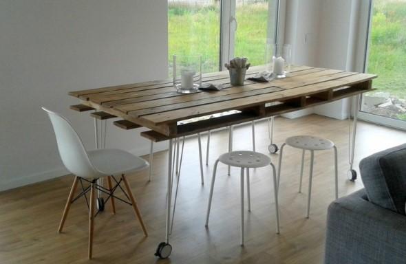 Mesa da cozinha de paletes 005
