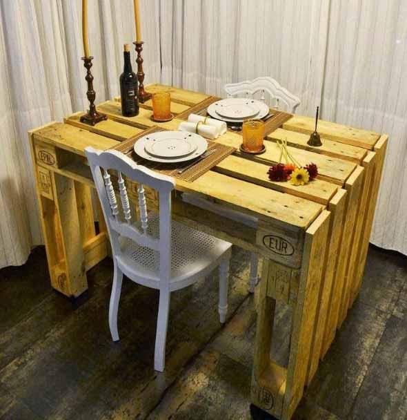 Mesa da cozinha de paletes 010